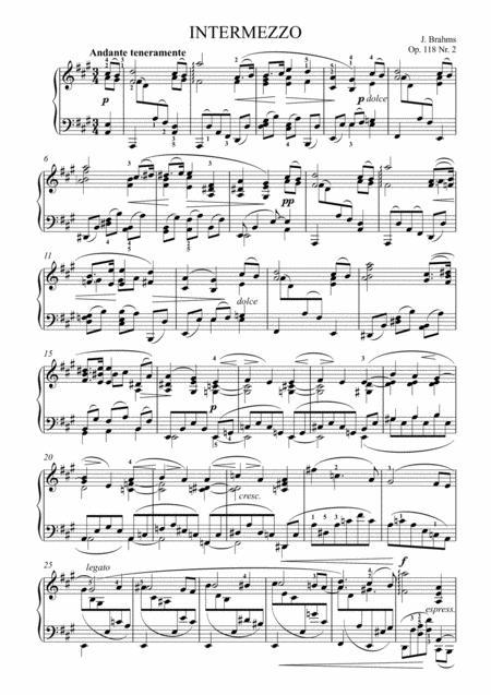 Brahms - Intermezzo Op. 118 No. 2 in A major