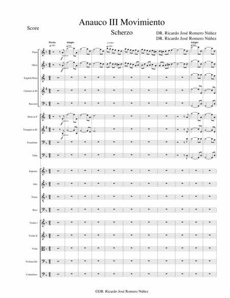 ANAUCO III movimiento Sinfonía