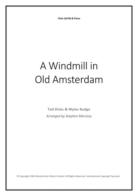A Windmill In Old Amsterdam