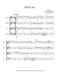 Ode To Joy for String Quartet
