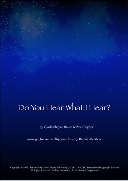 Do you hear what I hear?