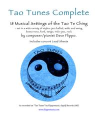 TAO TUNES COMPLETE - Lead Sheets in C - 18 Vocal Jazz Settings of the Tao Te Ching