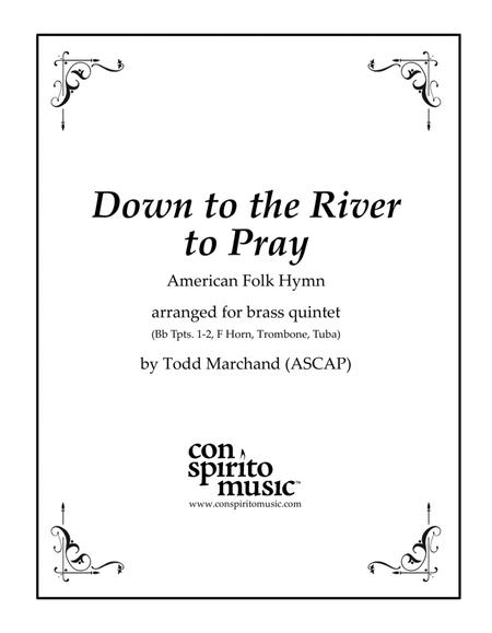 Down to the River to Pray — brass quintet