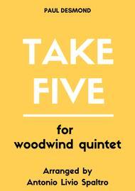 Take Five for Woodwind Quintet  Digital Sheet Music  ByPaul Desmond