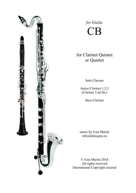 CB - easy latin piece for Clarinet Quintet (or Quartet)