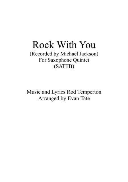 Rock With You (For Saxophone Quintet)
