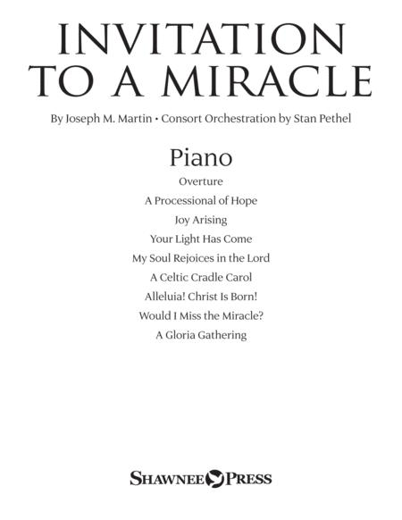 Invitation To A Miracle (a Cantata For Christmas) - Piano