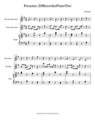 Presence 20l Piano Recorder Trio