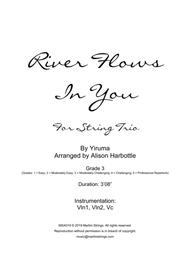 River Flows In You - string trio