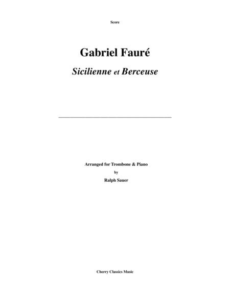 Two Pieces - Sicilienne and Berceuse for Trombone & Piano