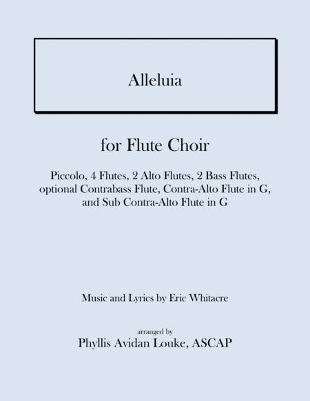 Alleluia by Eric Whitacre for FLUTE CHOIR
