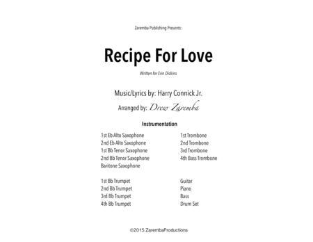 Recipe For Love arr. Drew Zaremba