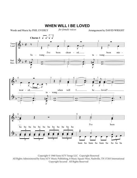 When Will I Be Loved (chorus pricing)
