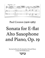 Saxophone Sonata, Op. 19 (All movements)