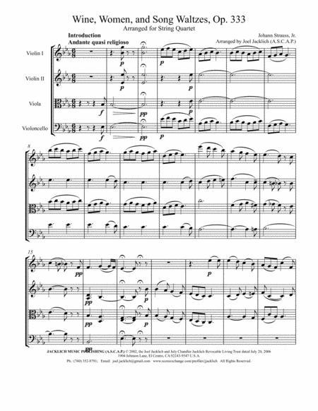 Wine, Women, and Song Waltzes, Op. 333