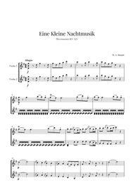 Eine Kleine Nachtmusik for 2 Violins