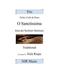 O Sanctissima - Piano Trio - intermediate