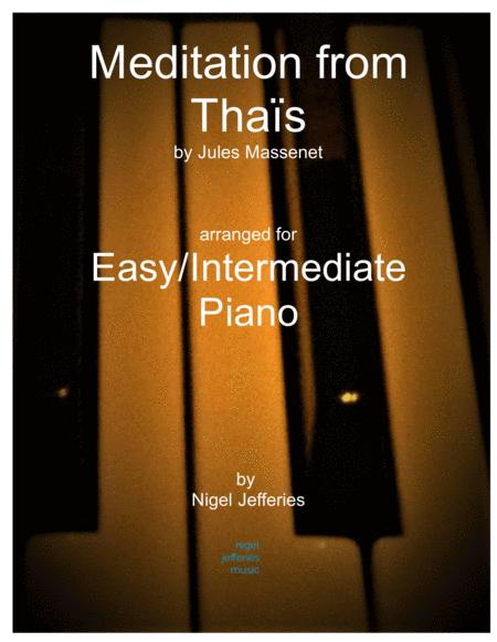 Meditation from Thais arranged for easy/intermediate piano
