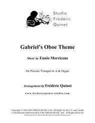 Gabriel's Oboe for Piccolo Trumpet and Organ