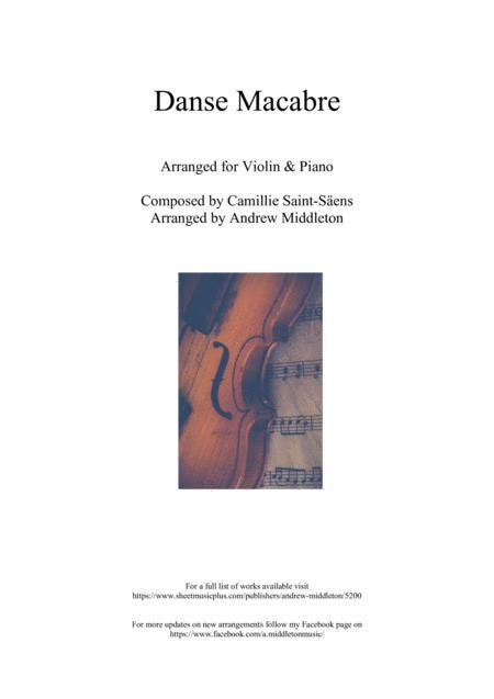 Danse Macabre arranged for Violin & Piano