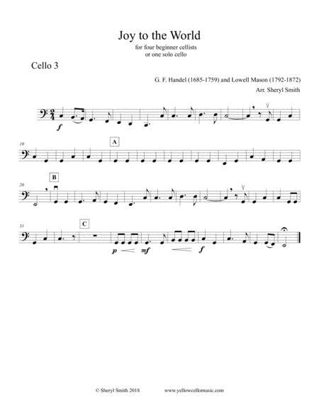 Beginner Cello Quartet Christmas Music: Joy To The World, Adeste Fideles, Carol Of The Bells, We ...