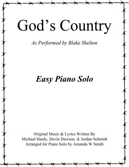 God's Country - Blake Shelton (Easy Piano Solo)