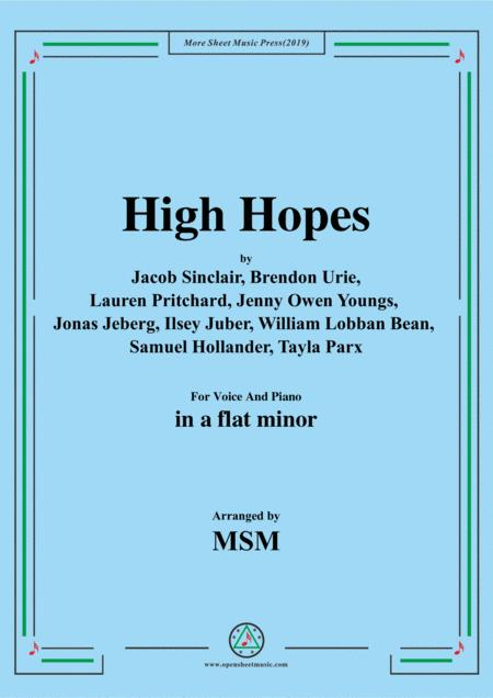 High Hopes,in a flat minor,for Voice And Piano