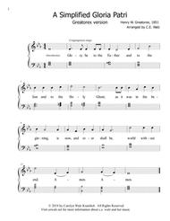 Simplified Gloria Patri and Doxology for Worship Service