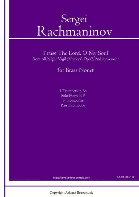 Rachmaninov:Praise The Lord, O My Soul For Brass Nonet, from All Night Vigil (Vespers) 2nd movement
