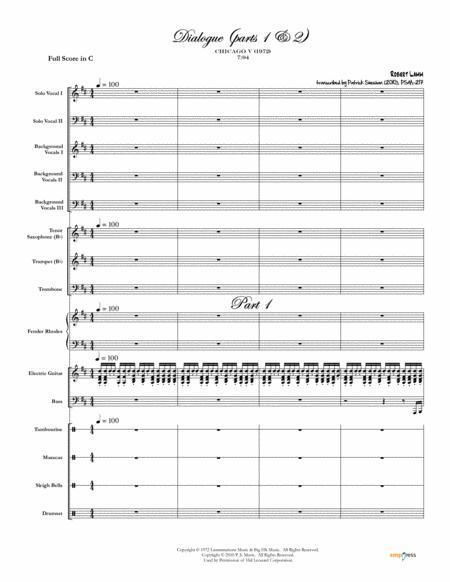 Dialogue (parts 1 & 2) [Chicago] (full score & set of parts)