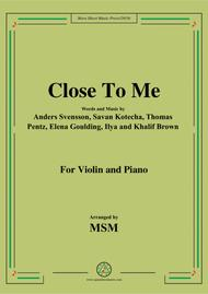 Close To me,for Violin and Piano