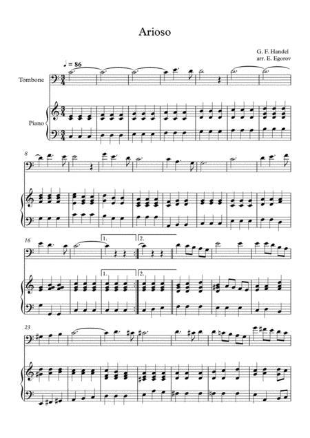Arioso, George Frideric Handel, For Trombone & Piano