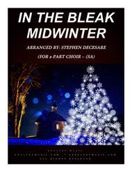 In The Bleak Midwinter (for 2-part choir - (SA)