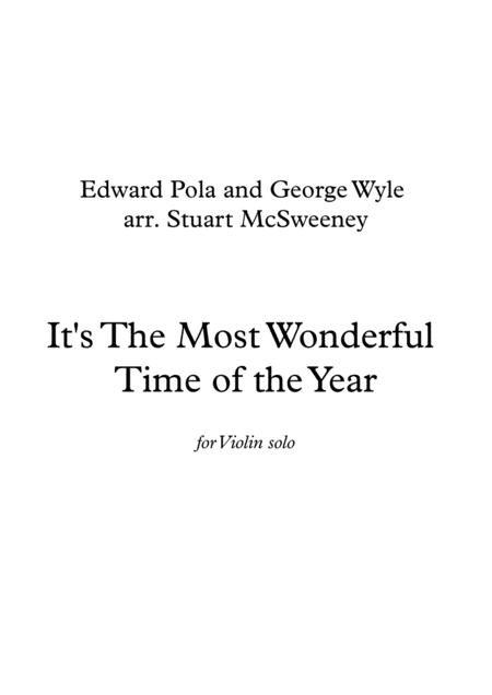 The Most Wonderful Time Of The Year - Violin