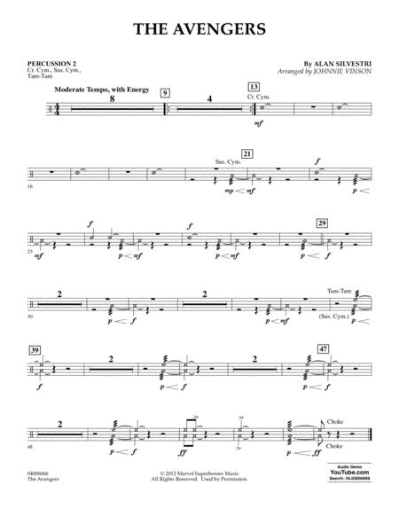 The Avengers (arr. Johnnie Vinson) - Percussion 2