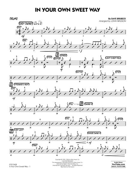 In Your Own Sweet Way (arr. John Wasson) - Drums