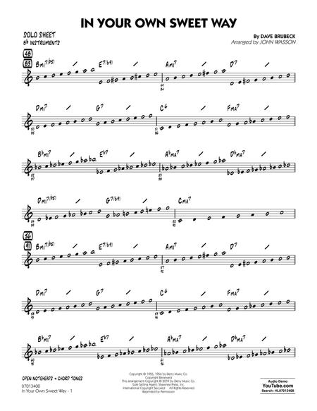 In Your Own Sweet Way (arr. John Wasson) - Bb Solo Sheet