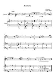 Lullaby, Johannes Brahms, For Clarinet & Piano