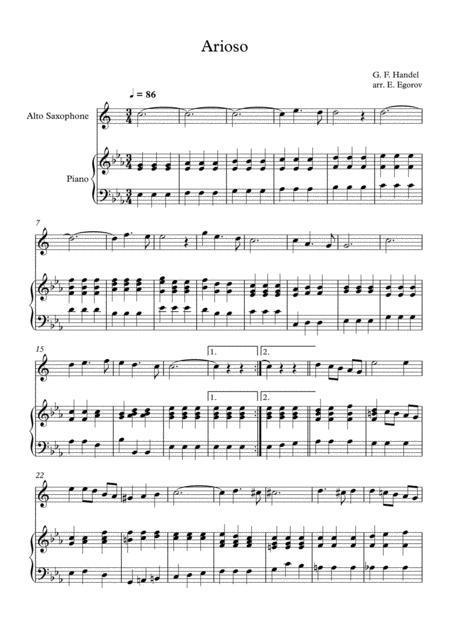 Arioso, George Frideric Handel, For Alto Saxophone & Piano