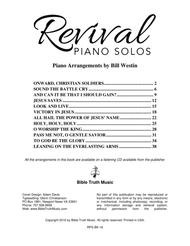 Revival Piano Solos Piano Book
