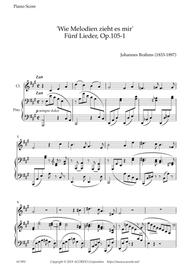 'Wie Melodien zieht es mir (It moves like a melody)' Op.105-1 for Clarinet & Piano