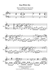 Stay With Me by Sam Smith Piano