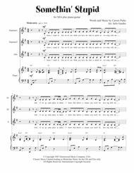Somethin' Stupid (Sinatra) for SSA plus piano/guitar