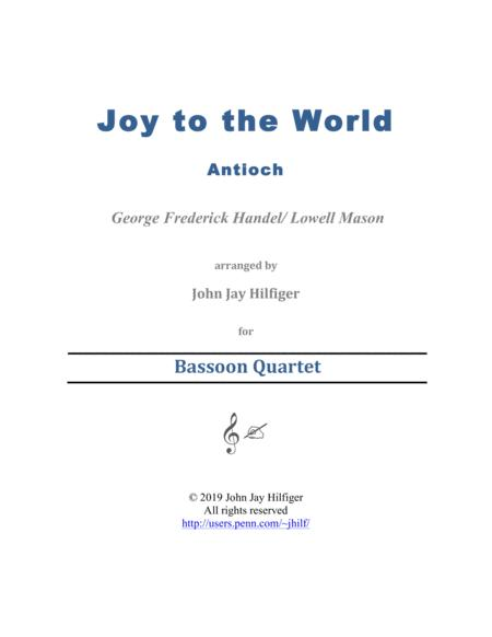 Joy to the World for Bassoon Quartet