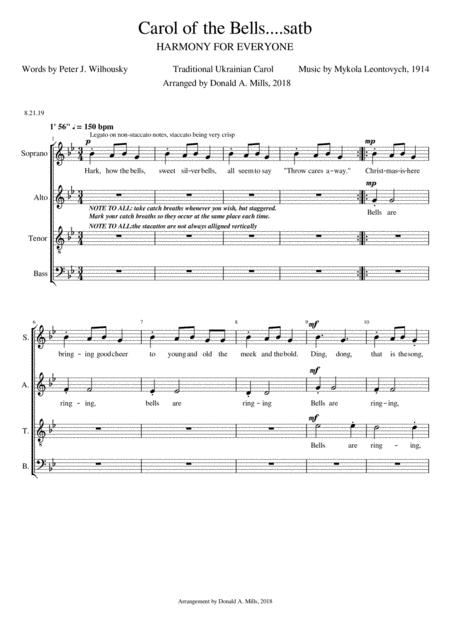 Carol of the Bells....satb