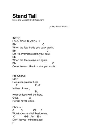 Stand Tall Lead Sheet