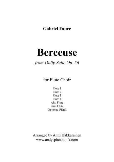 Berceuse from Dolly Suite Op. 56 - Flute Choir