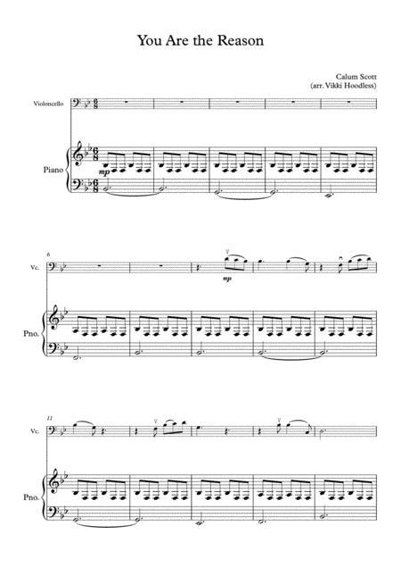 You Are The Reason (cello and piano)