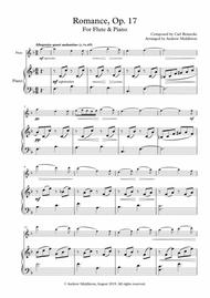Romance Op. 17 arranged for Flute and Piano