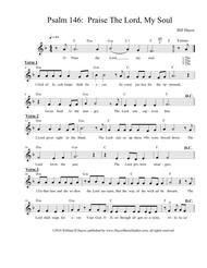 Psalm 146:  Praise Rhe Lord, My Soul